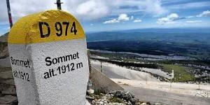 Borne du sommet du mont Ventoux